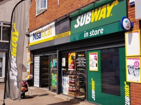 Nisa Local & Subway Birmingham UK ATM